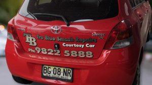 courtesy car tru blue smash repair